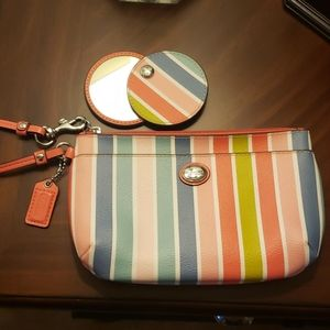 Coach wristlet and matching mirror